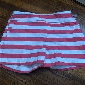 New York and company striped shorts